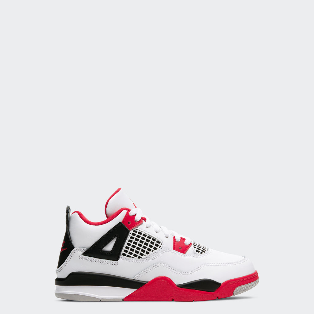 "Little Kids' Air Jordan 4 Retro PS ""Fire Red"" 