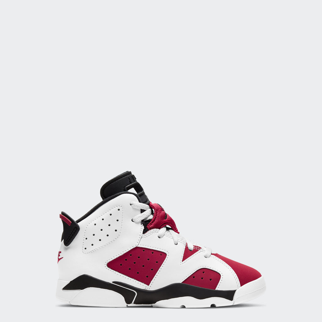 "Little Kids' Air Jordan 6 Retro PS ""Carmine"" 384666-106 