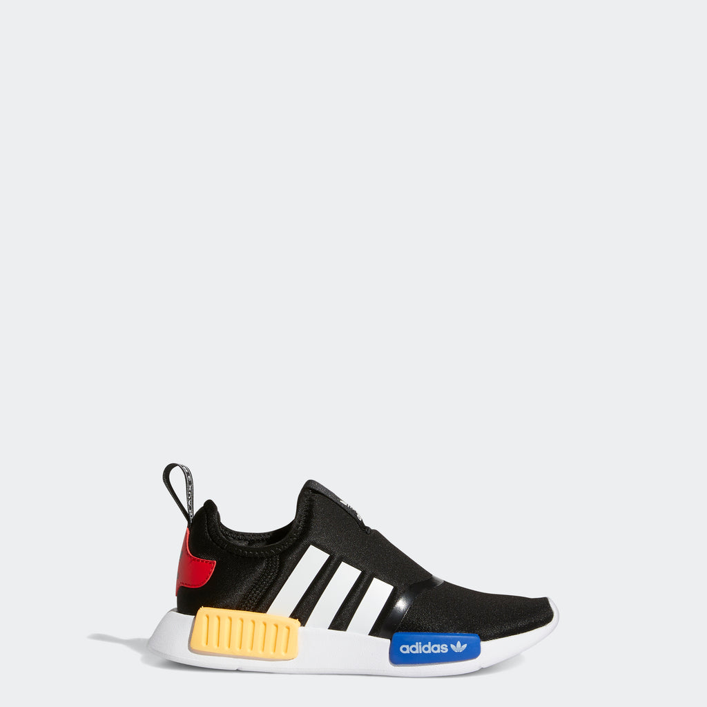 Little Kids' adidas NMD 360 Shoes Black H01854 | Chicago City Sports | side view