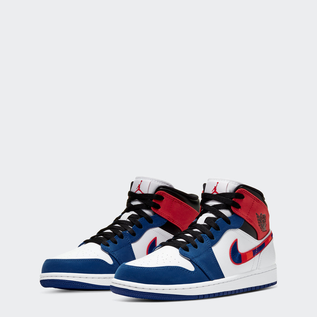 "Men's Air Jordan 1 Mid Shoes SE ""Multicolor Swoosh"""