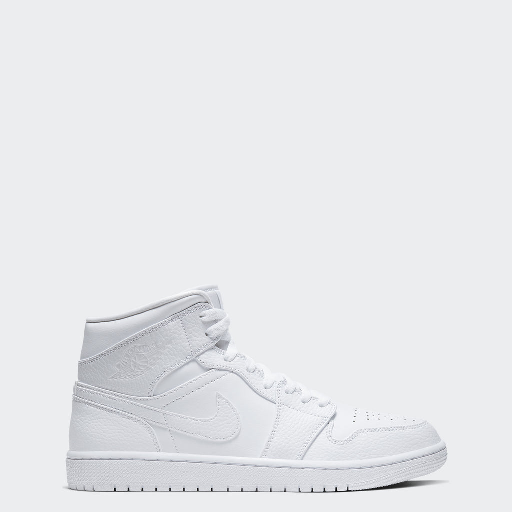 "Men's Air Jordan 1 Mid Shoes ""White"""