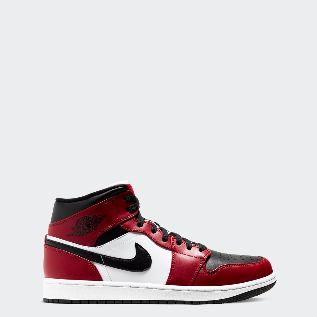 "Men's Air Jordan 1 Mid ""Chicago Toe"""