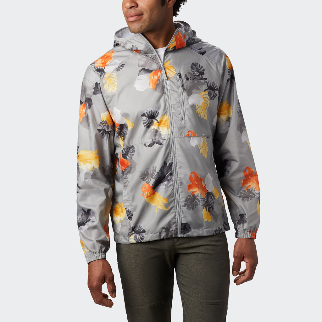 Men's Columbia Flash Forward Print Windbreaker Grey Tropical