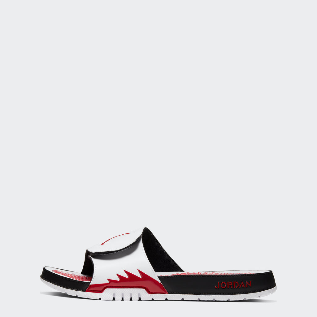 "Men's Jordan Hydro V Retro Slides ""White Red"""