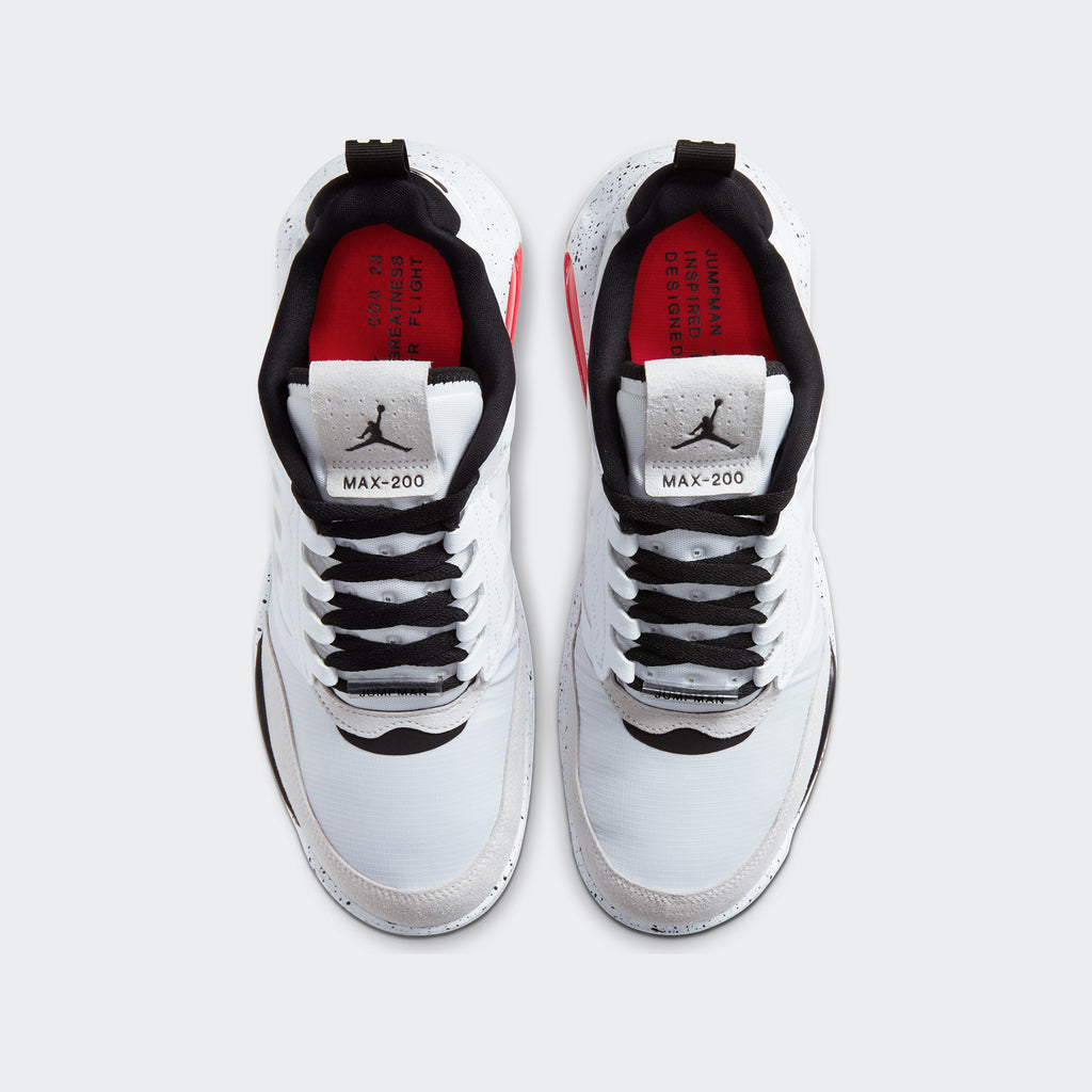 Men's Jordan Max 200 Shoes White (SKU CD6105-100) | Chicago City Sports | top view