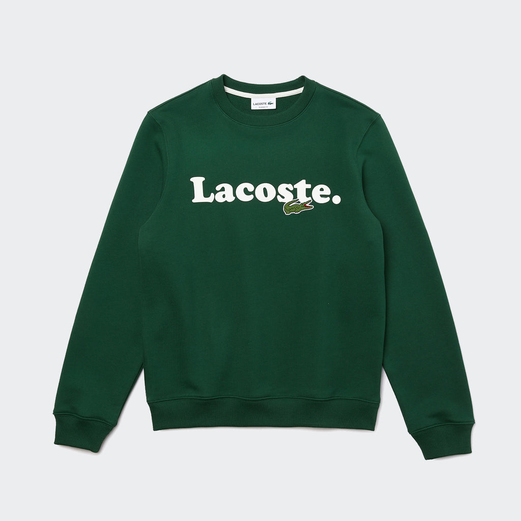 Men's Lacoste And Crocodile Branded Fleece Sweatshirt Green