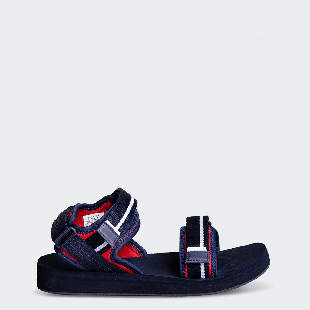 Men's Lacoste Suruga Textile Sandals Navy (739CMA003821B) | Chicago City Sports | side view