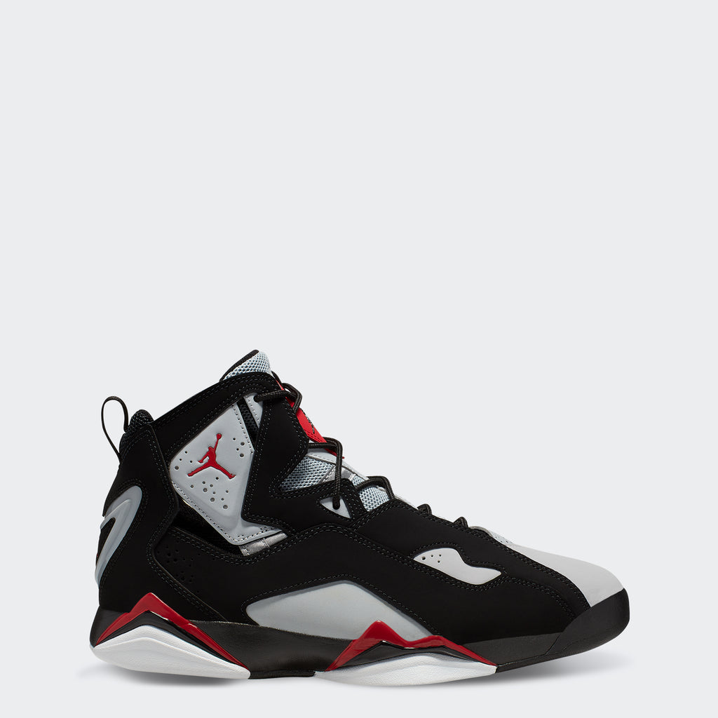 "Men's Jordan True Flight Shoes ""Black Red Grey"""