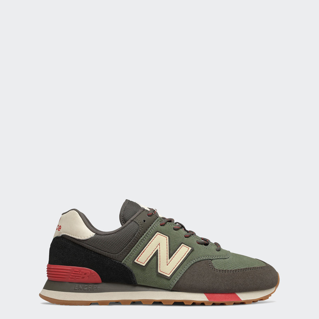 Men's New Balance 574 Shoes Camo Green