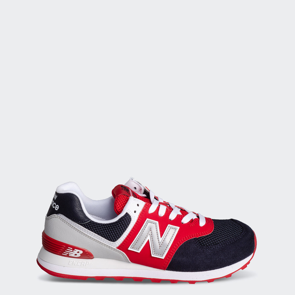 Men's New Balance 574 Shoes Eclipse Navy (SKU ML574SA1) | Chicago City Sports | side view