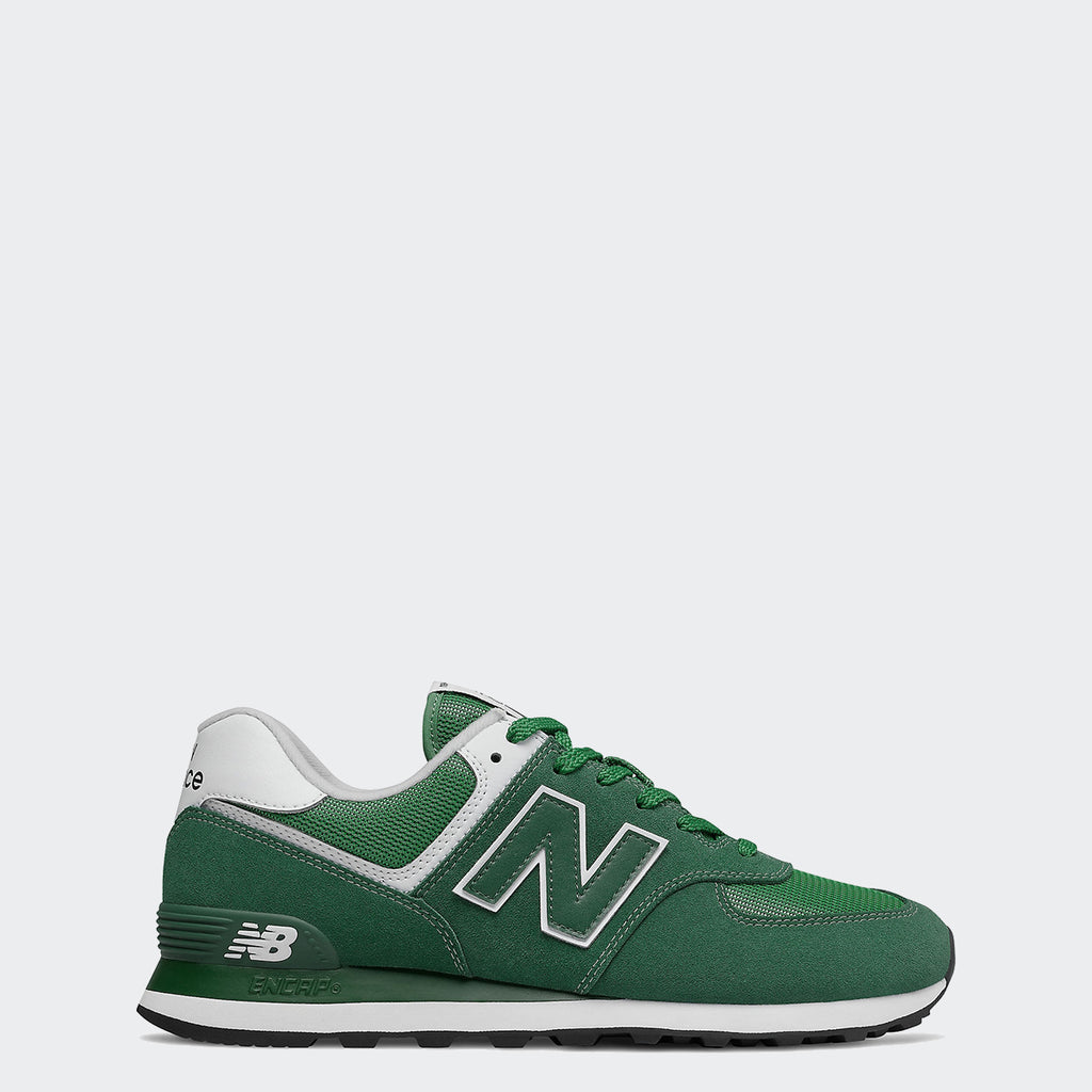 Men's New Balance 574 Shoes Team Forest Green