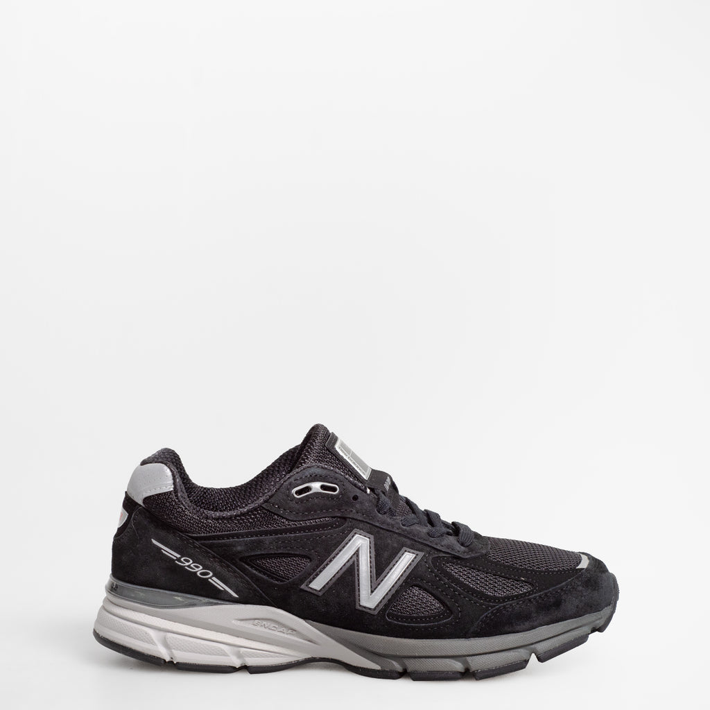 Men's New Balance 990v4 Made in US Black with Silver