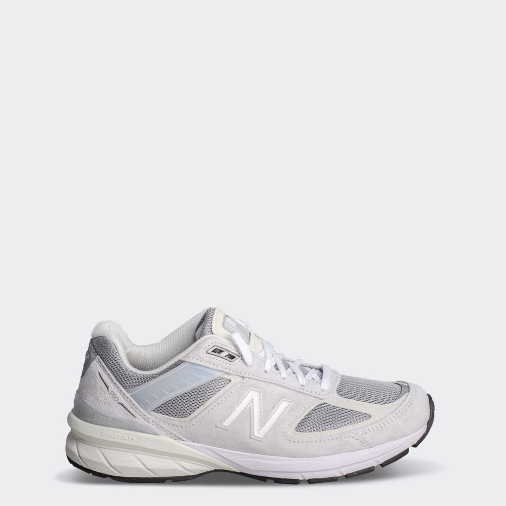 Men's New Balance 990v5 Made in US Nimbus Cloud/Silver | Chicago City Sports | side view
