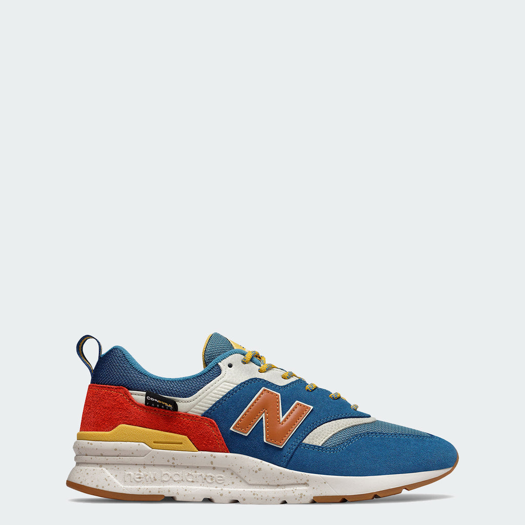 Men's New Balance 997H Shoes Blue Orange