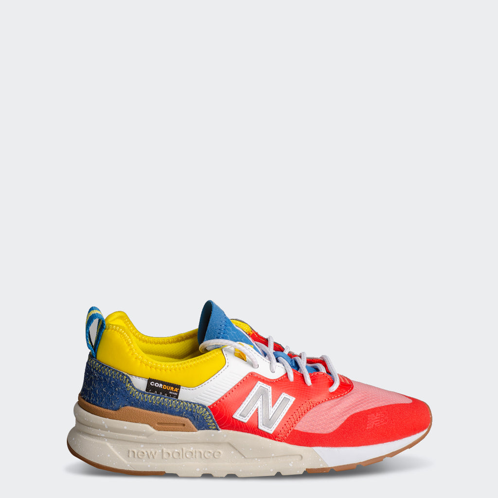 Men's New Balance 997H Spring Hike Trail Shoes Neo Flame Blue Yellow (CMT997HG) | Chicago City Sports | side view