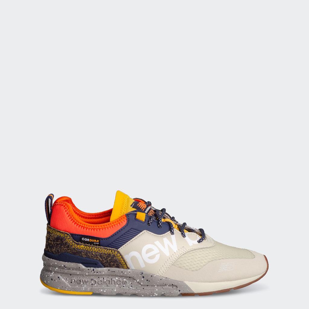 Men's New Balance 997H Spring Hike Trail Shoes Oyster Beige with Orange (CMT997HC) | Chicago City Sports | side view