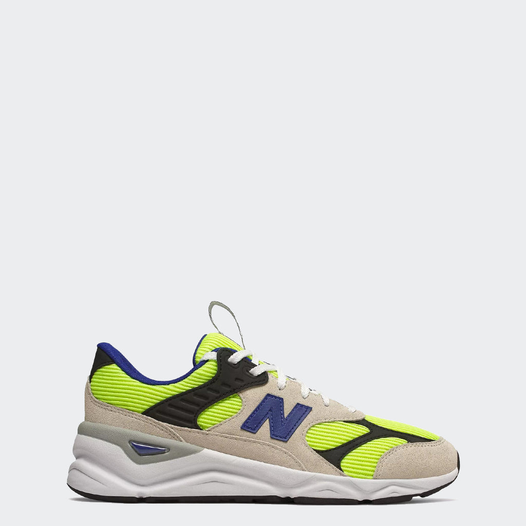 Men's New Balance X-90 Reconstructed Shoes Bleached Lime Glo