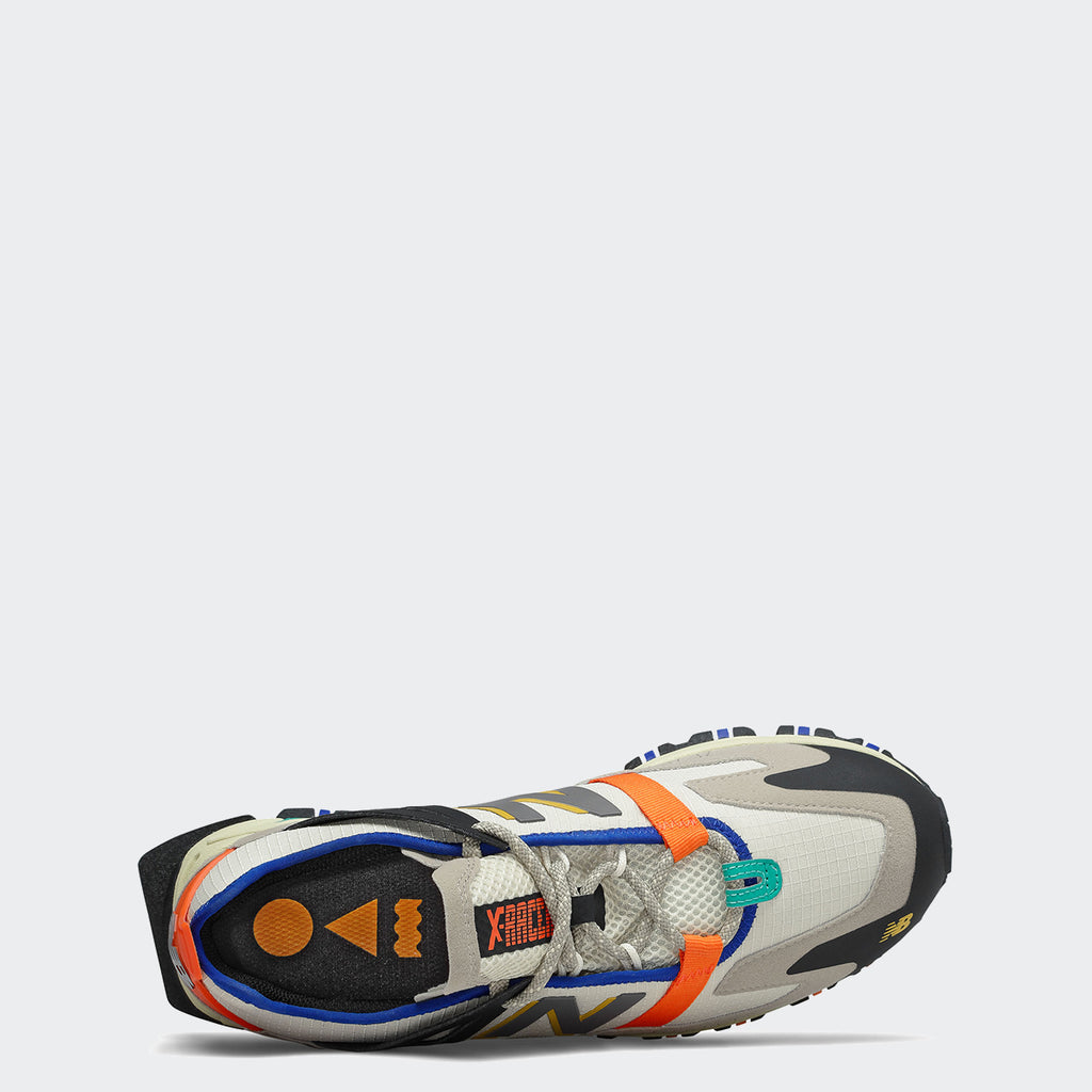 Men's New Balance XRCT Shoes Outerspace Grey Multicolor MSXRCTCE | Chicago City Sports | top view