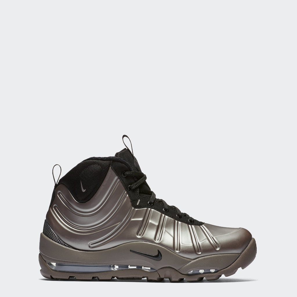 Men's Nike Air Bakin' Posite Shoes Metallic Pewter Black (SKU 618056-002) | Chicago City Sports | side view
