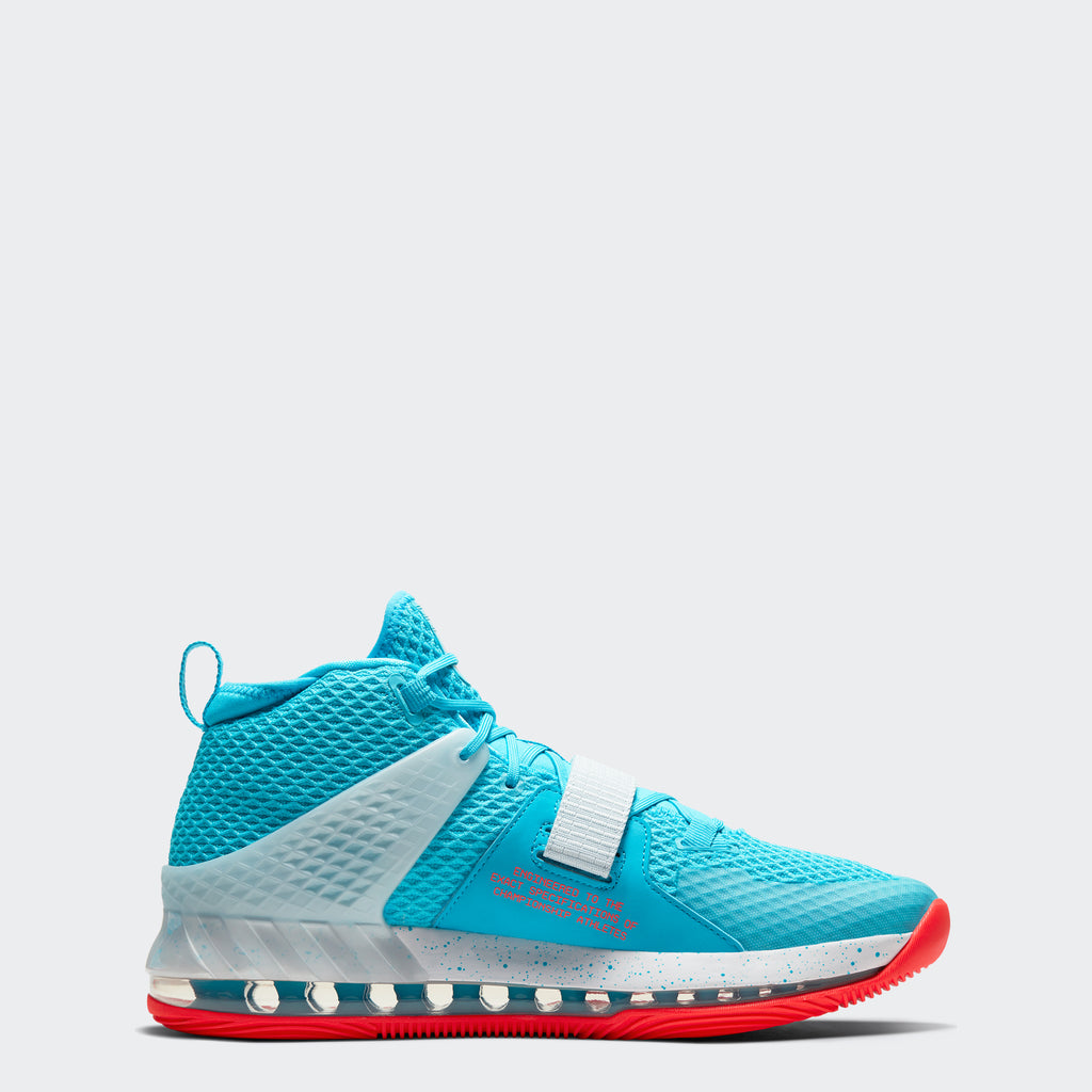 Men's Nike Air Force Max II Shoes Chicago Blue Fury White Bright Crimson (SKU AV6243-400) | Chicago City Sports | interior side view