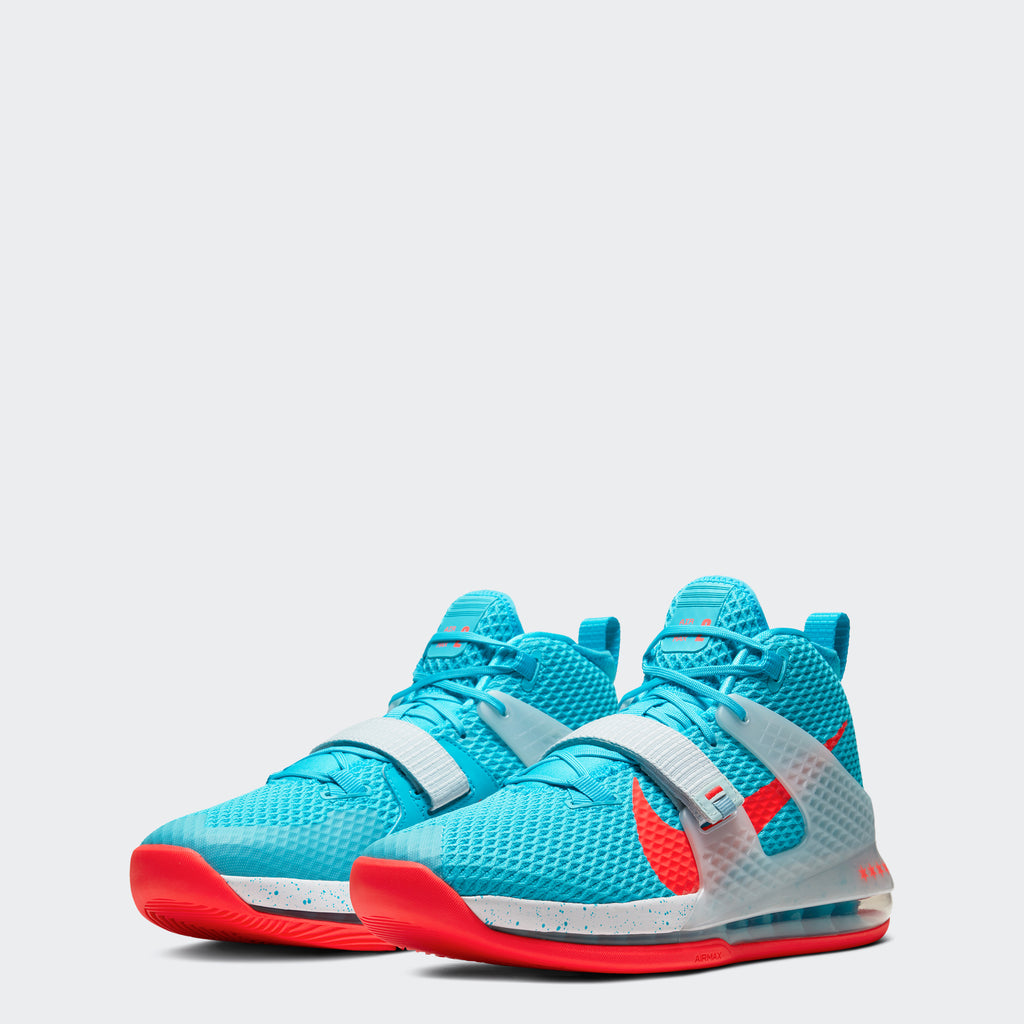 Men's Nike Air Force Max II Shoes Chicago Blue Fury White Bright Crimson (SKU AV6243-400) | Chicago City Sports | front view
