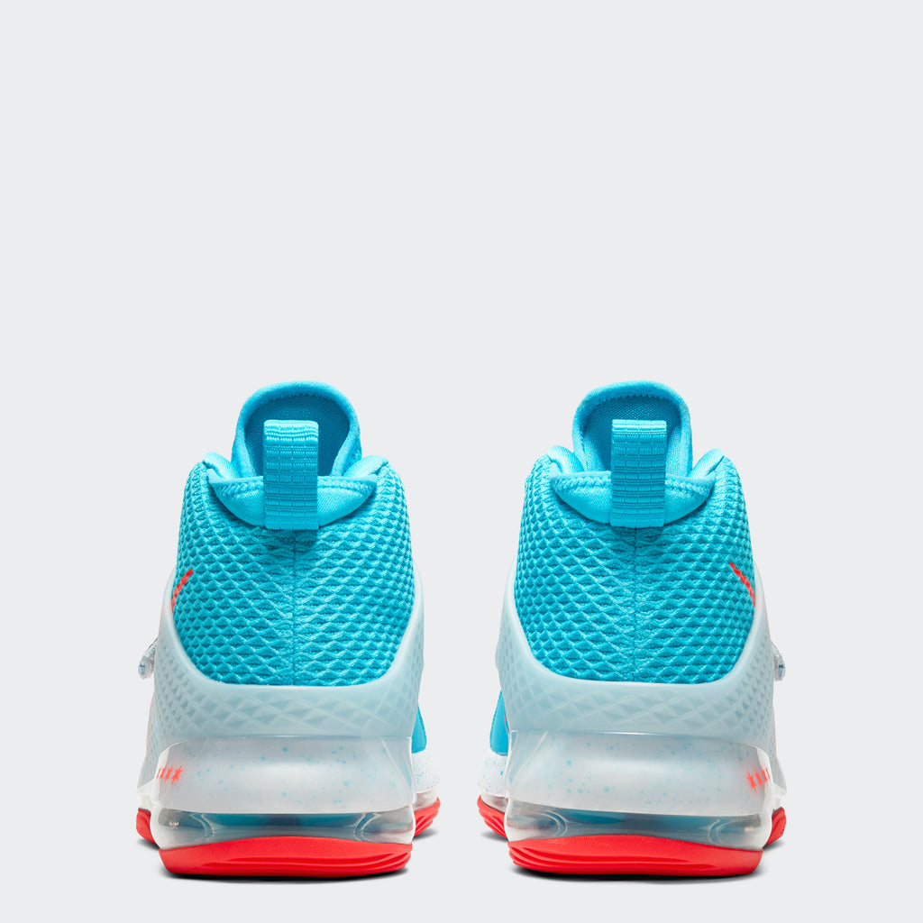 Men's Nike Air Force Max II Shoes Chicago Blue Fury White Bright Crimson (SKU AV6243-400) | Chicago City Sports | rear view