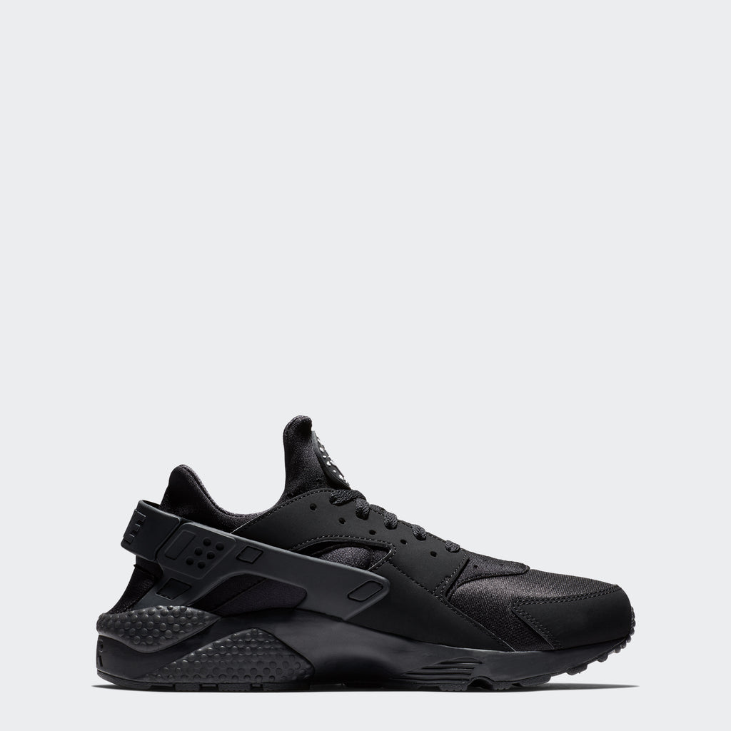 Men's Nike Air Huarache Shoes Black (SKU 318429-003) | Chicago City Sports | side view