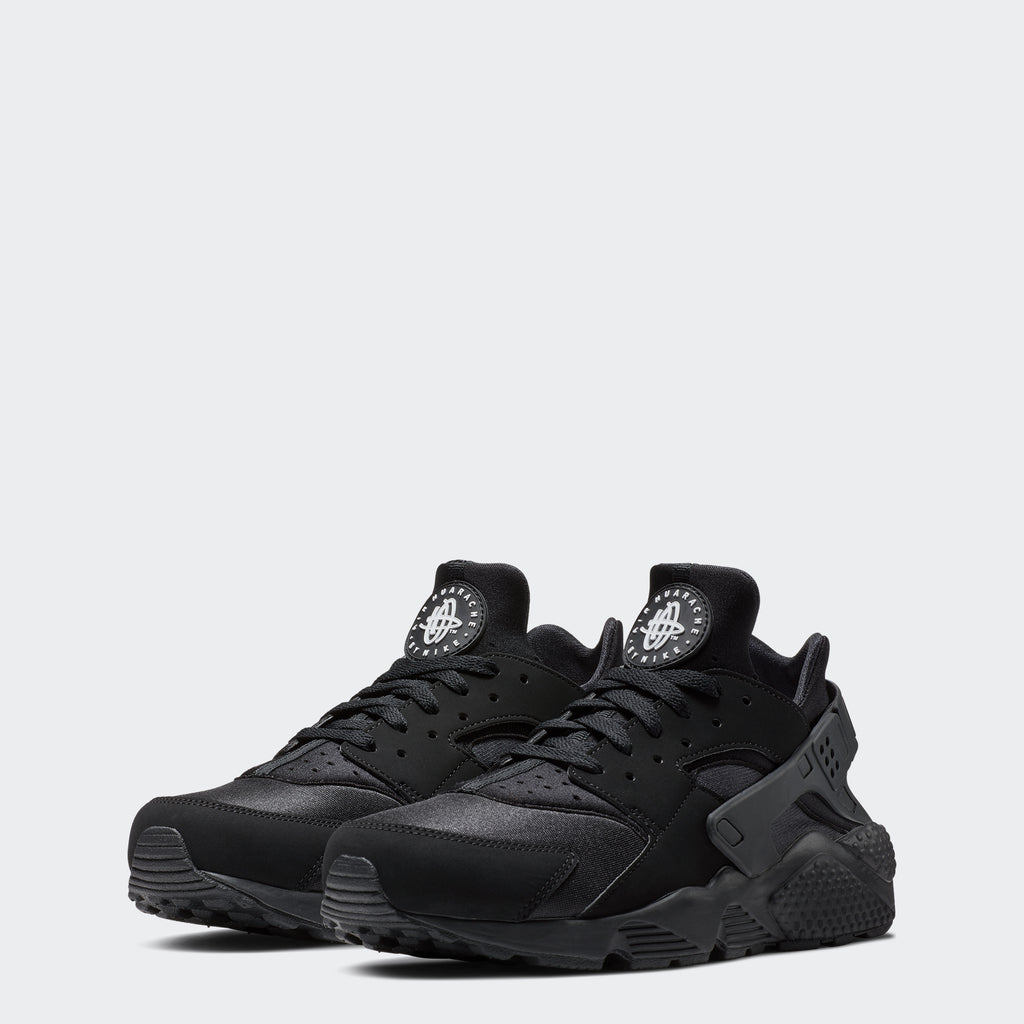 Men's Nike Air Huarache Shoes Black (SKU 318429-003) | Chicago City Sports | front view