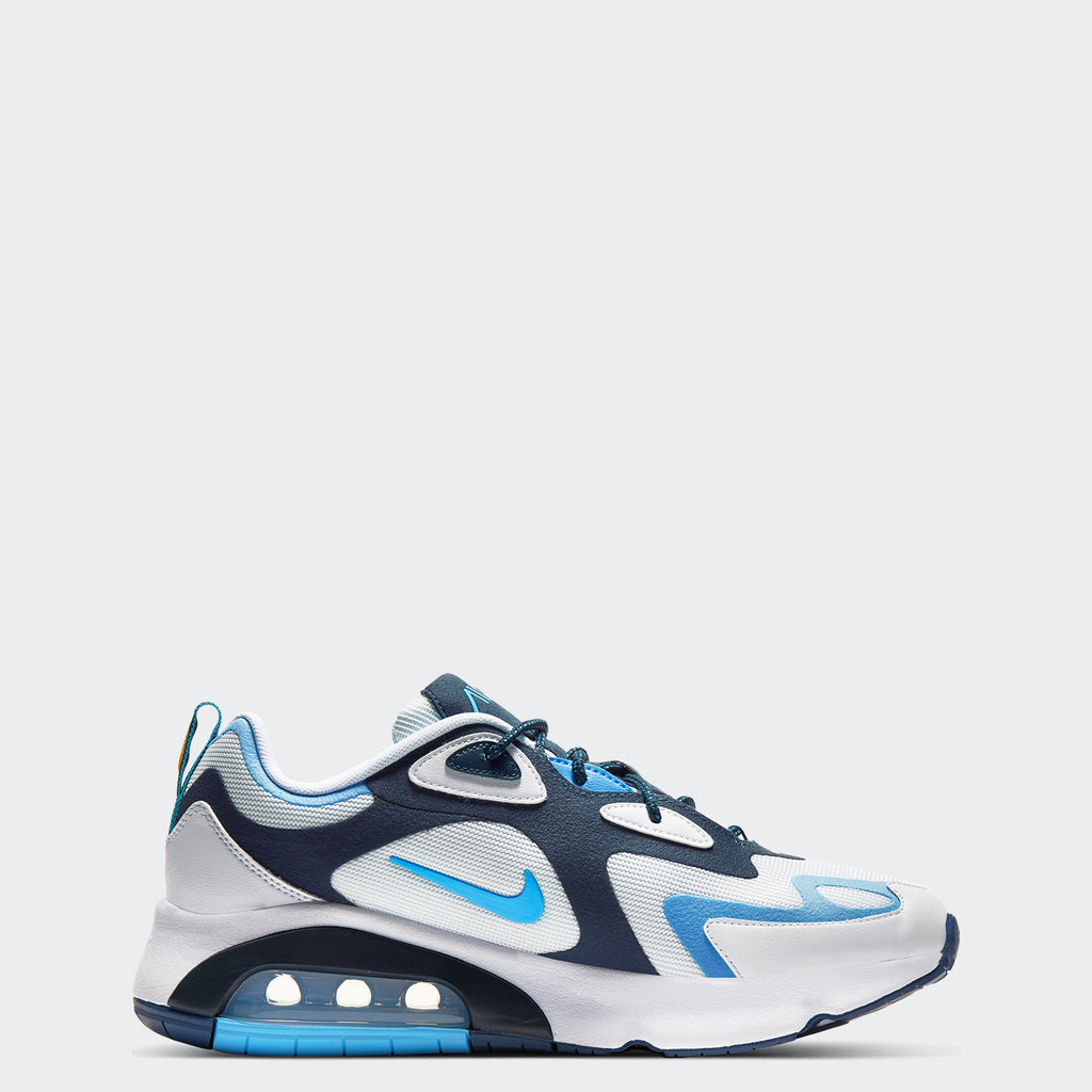 Men's Nike Air Max 200 Shoes White Midnight Navy