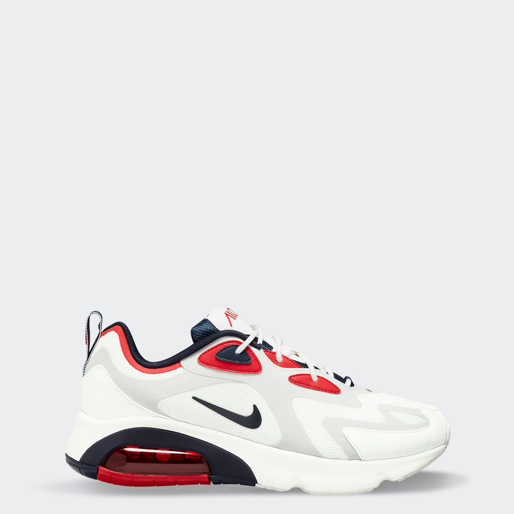 Men's Nike Air Max 200 Shoes White University Red