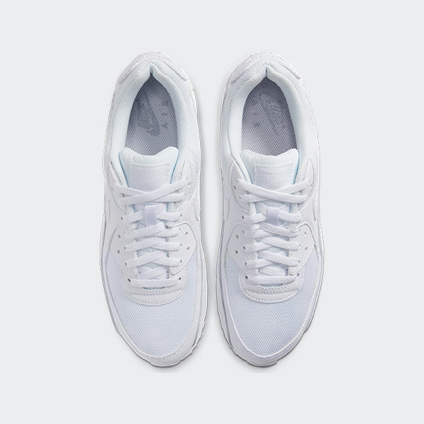Men's Nike Air Max 90 Shoes White (SKU CN8490-100) | Chicago City Sports | top view