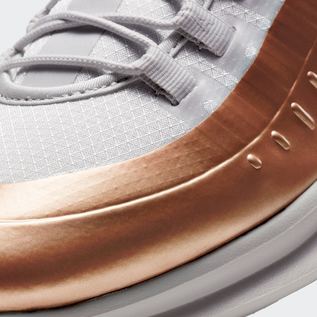 Men's Nike Air Max Axis Premium Shoes White Copper (SKU CD4154-002) | Chicago City Sports | detailed toe area view