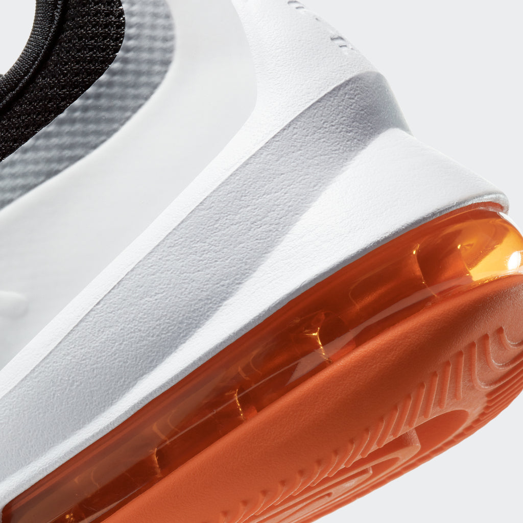 Men's Nike Air Max Axis Shoes Black Orange White (SKU AA2146-017) | Chicago City Sports | detailed Air unit view
