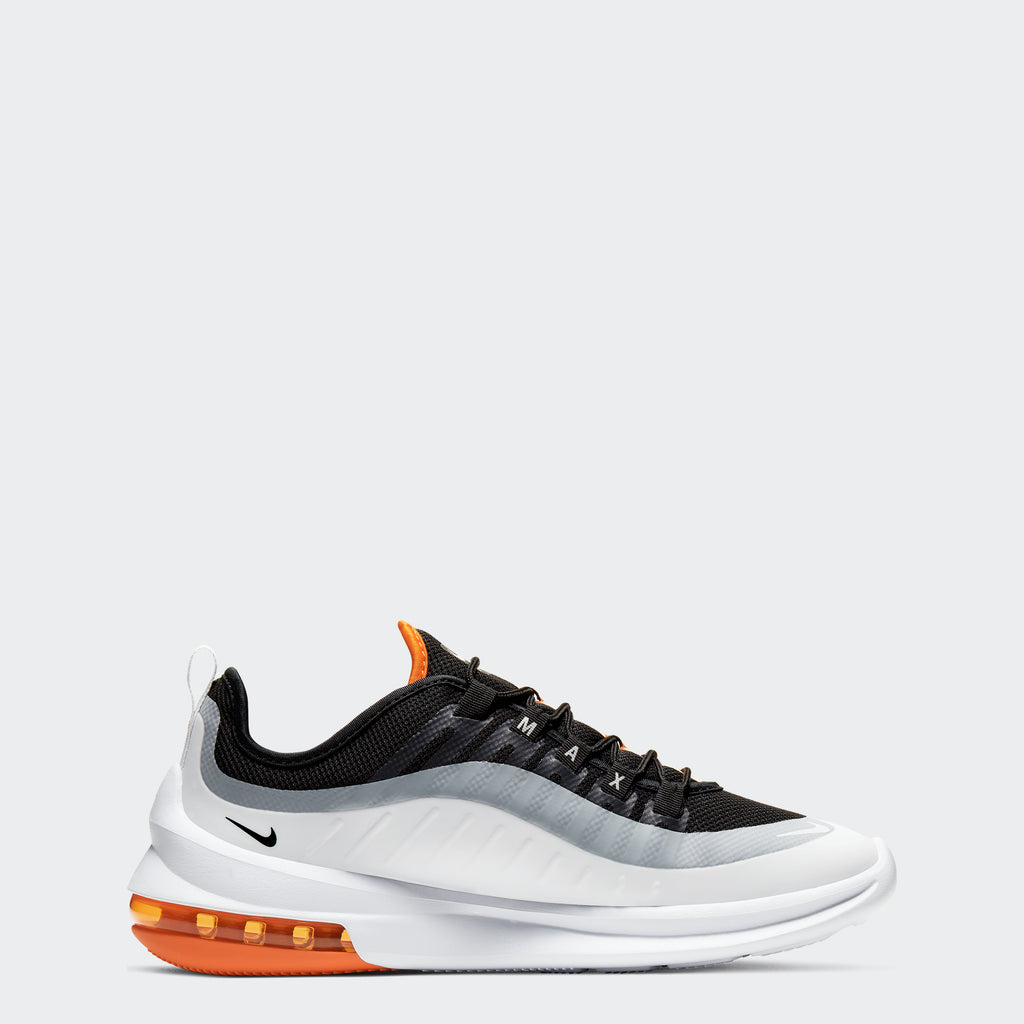 Men's Nike Air Max Axis Shoes Black Orange White (SKU AA2146-017) | Chicago City Sports | side view