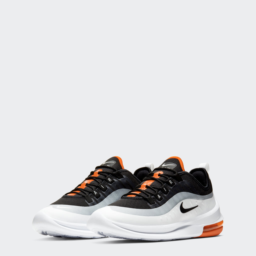Men's Nike Air Max Axis Shoes Black Orange White (SKU AA2146-017) | Chicago City Sports | front view