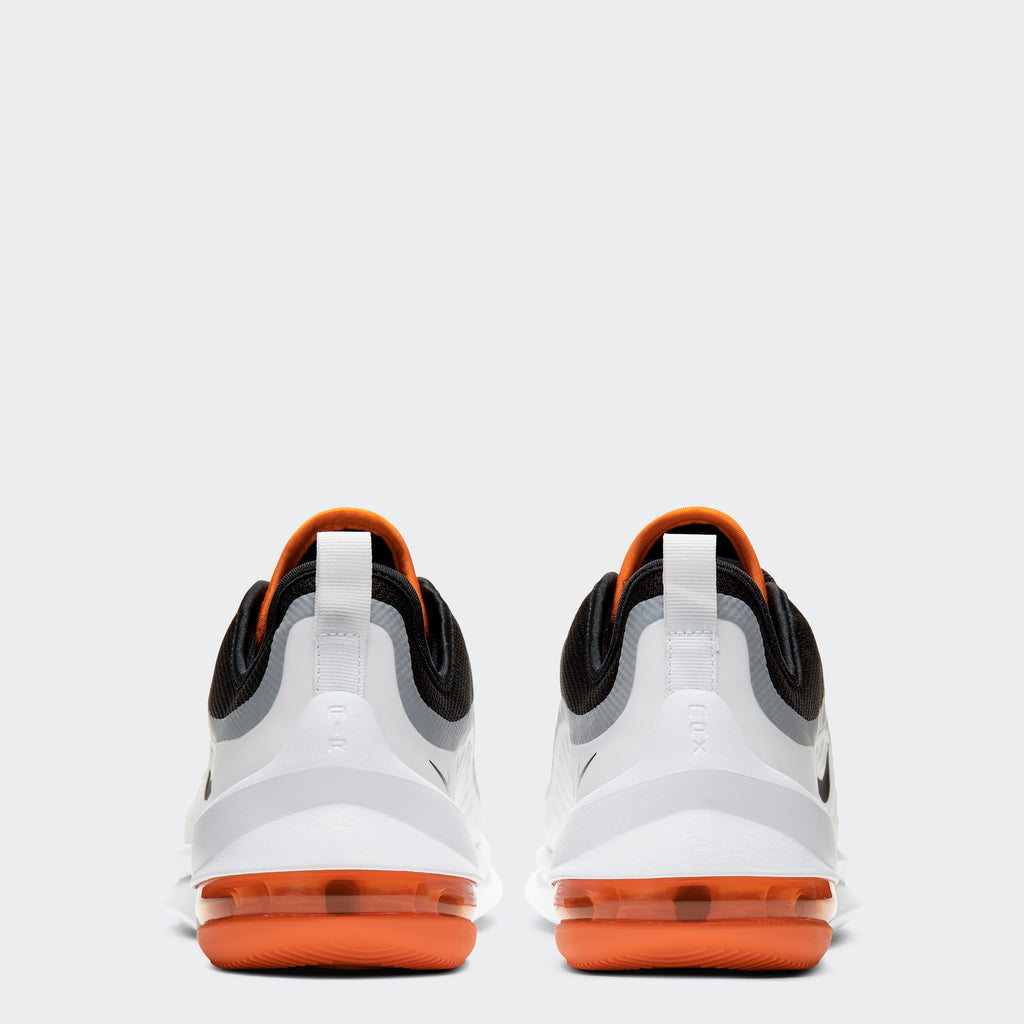 Men's Nike Air Max Axis Shoes Black Orange White (SKU AA2146-017) | Chicago City Sports | rear view