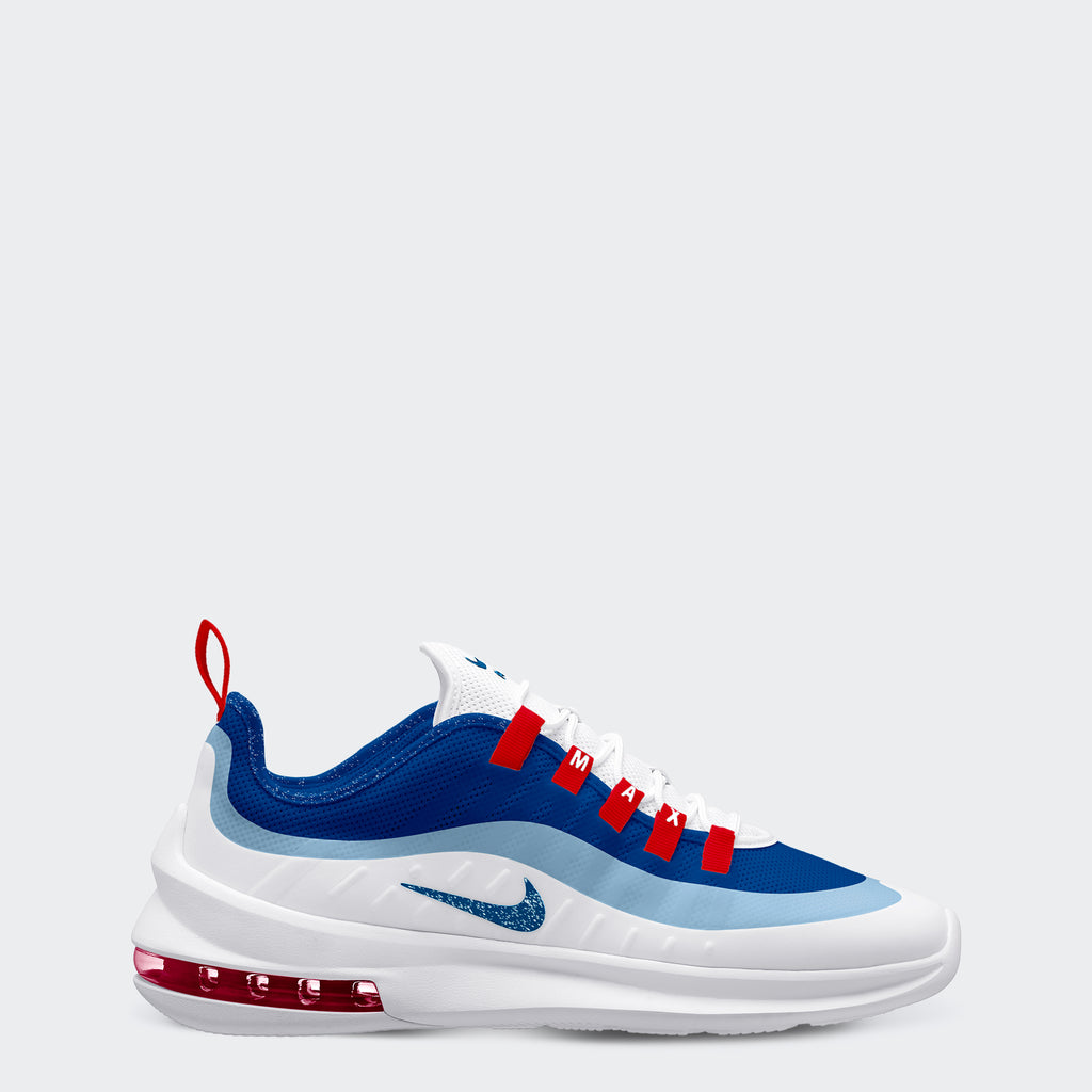 Men's Nike Air Max Axis Shoes White Gym Blue (SKU AA2146-101) | Chicago City Sports | side view