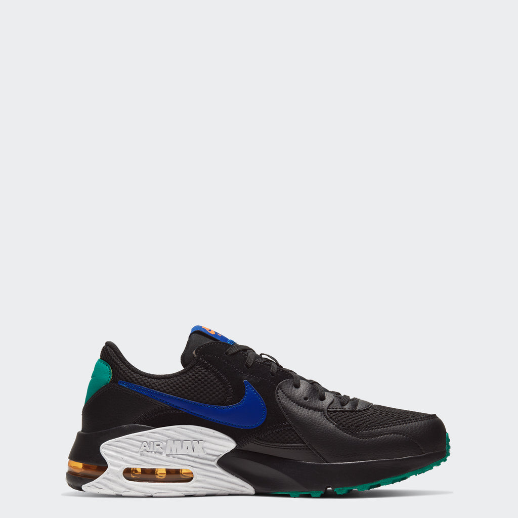 Men's Nike Air Max Excee Shoes Black Green