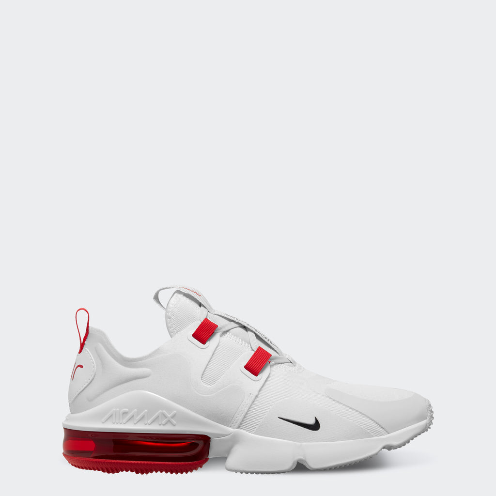 Men's Nike Air Max Infinity Shoes White Red (SKU BQ3999-102) | Chicago City Sports | side view