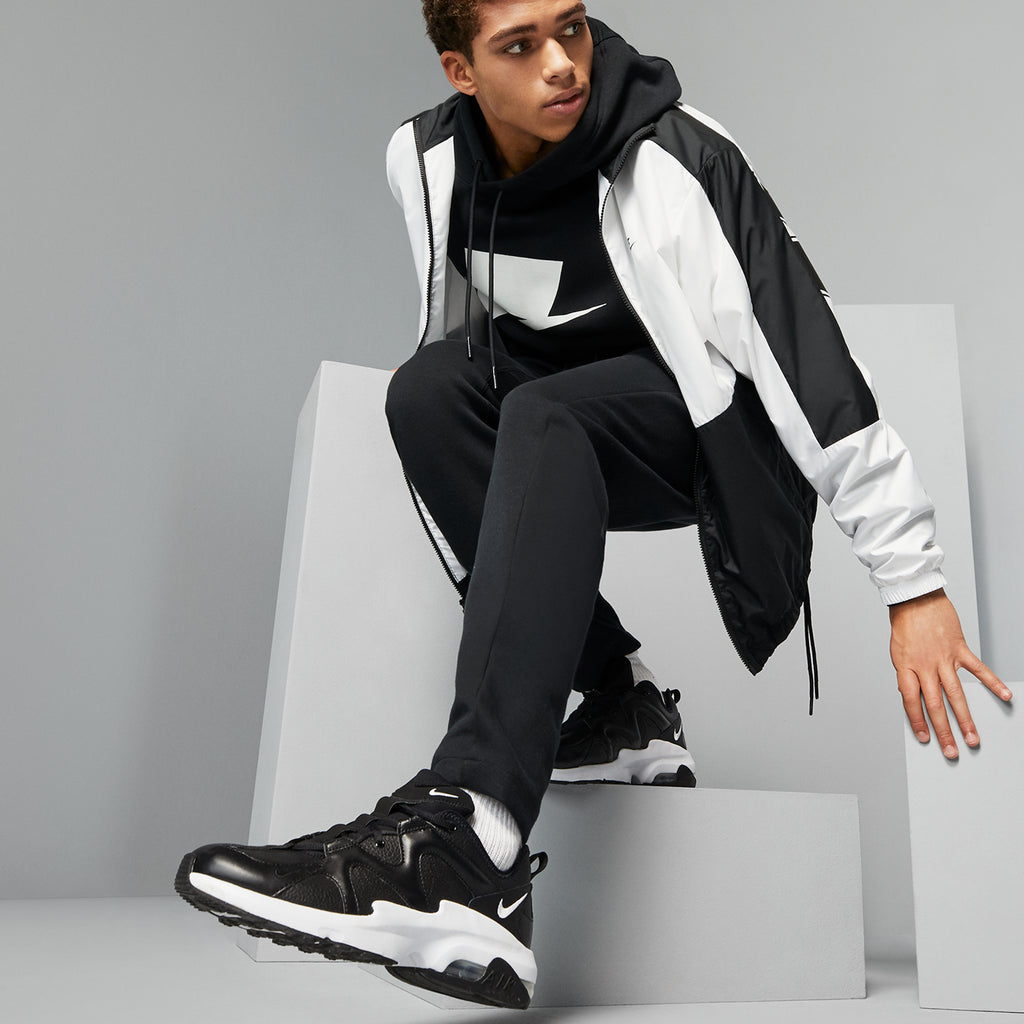 Men's Nike Air Max Graviton Shoes Black White (SKU CD4151-002) | Chicago City Sports | shoes on model on the move