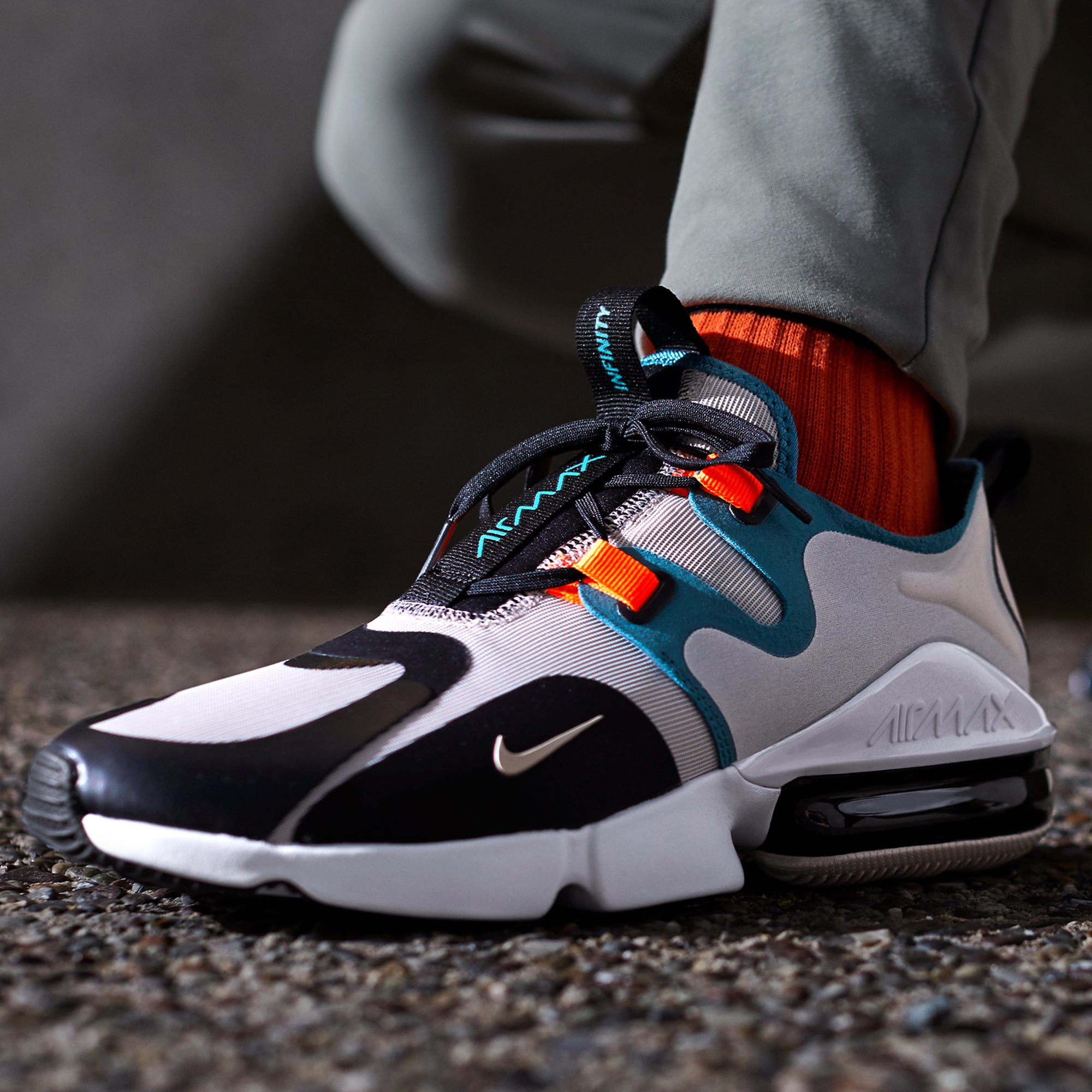 Nike Air Max Infinity Shoes Black Teal | Chicago City Sports