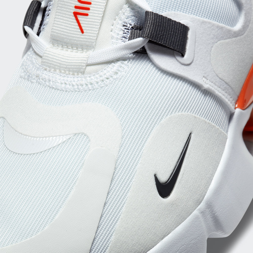 Men's Nike Air Max Infinity White (SKU BQ3999-100) | Chicago City Sports | detailed toe area view