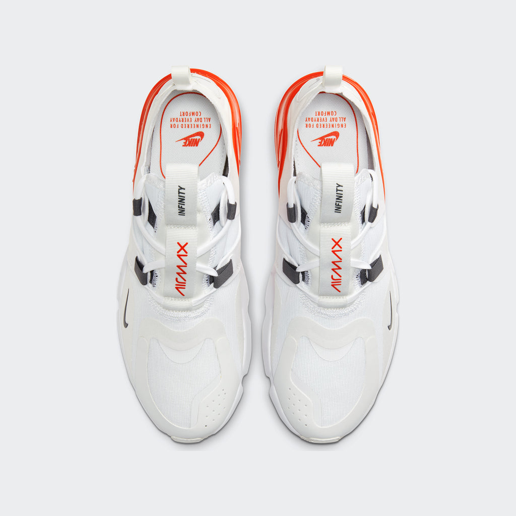 Men's Nike Air Max Infinity White (SKU BQ3999-100) | Chicago City Sports | top view