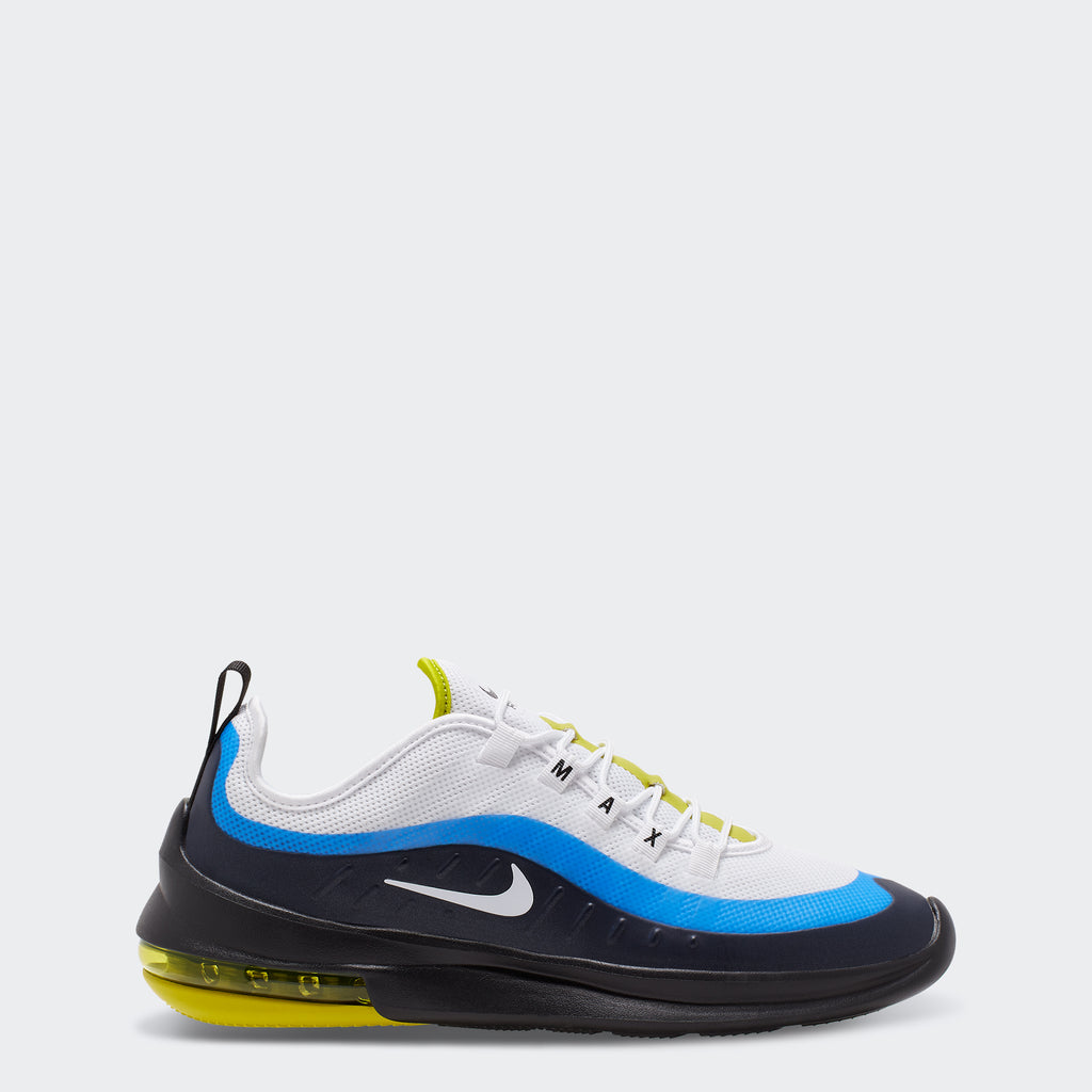 Men's Nike Air Max Axis Shoes White Blue