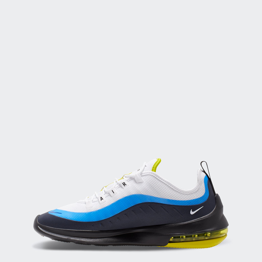 Men's Nike Air Max Axis Shoes White Royal Blue (SKU AA2146-109) | Chicago City Sports | side view