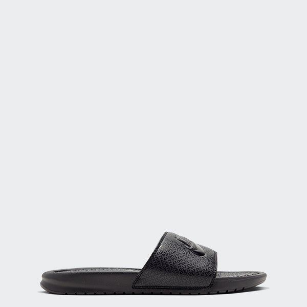 Men's Nike Benassi JDI Slides Triple Black (SKU 343880-001) | Chicago City Sports | side view