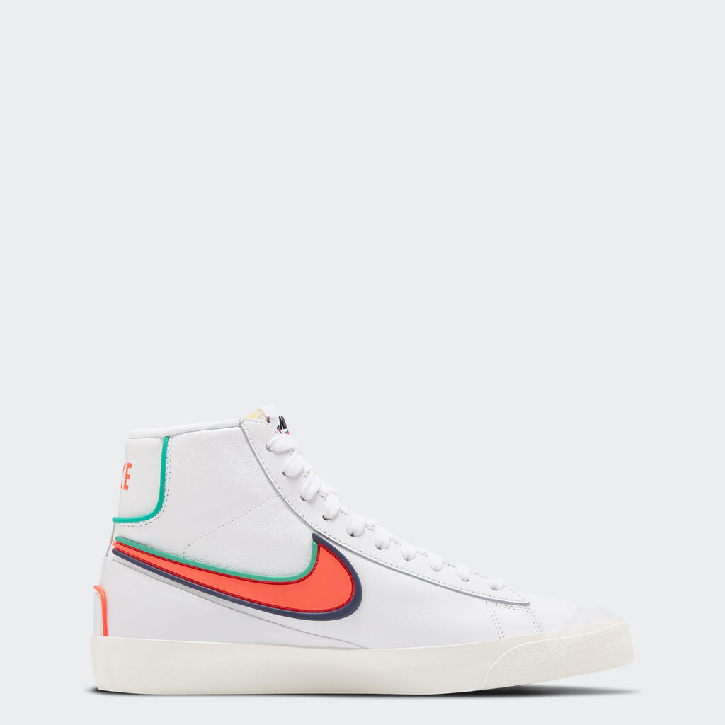 Men's Nike Blazer Mid '77 Infinite White DA7233-102 | Chicago City Sports | side view
