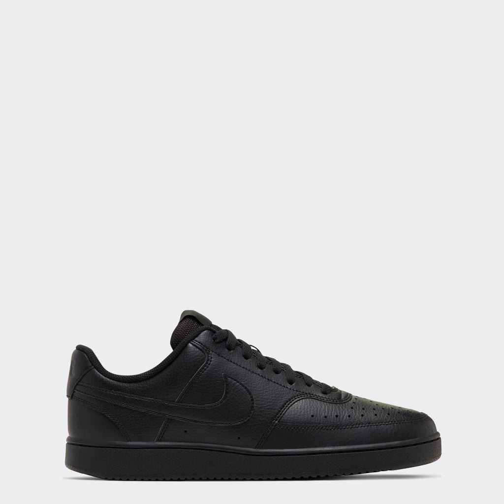 Men's Nike Court Vision Low Shoes Triple Black (SKU CD5463-002) | Chicago City Sports | side view