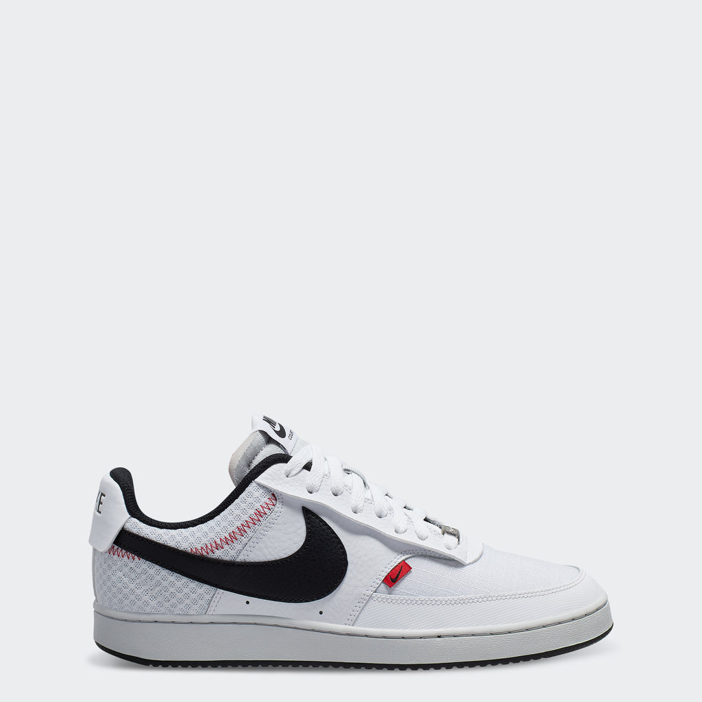 Men's Nike Court Vision Low Shoes Triple White (SKU CD5464-100) | Chicago City Sports | side view