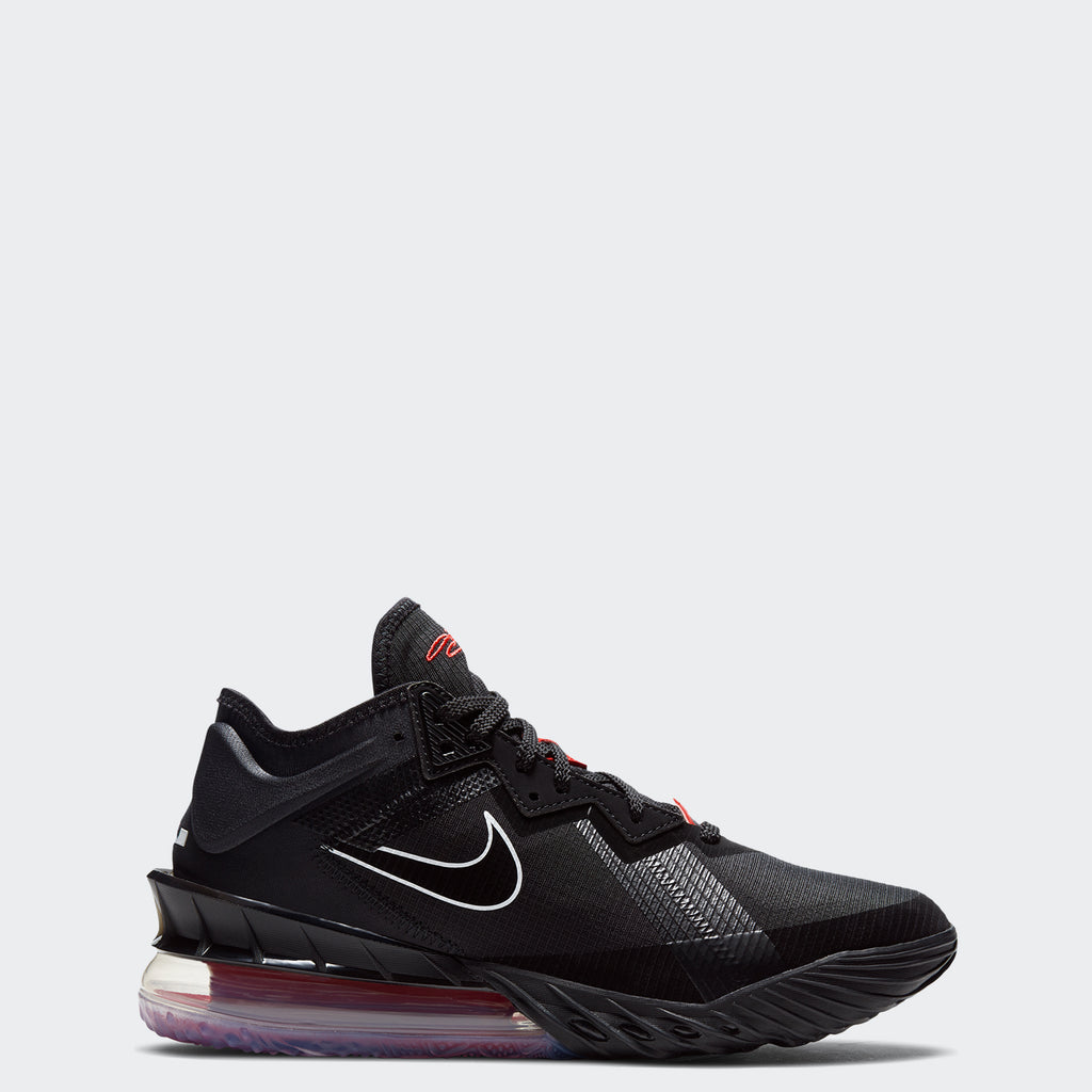 Nike LeBron 18 Low Black/Red CV7562-001 | Chicago City Sports | side view